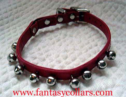 Bells on Leather Cool Cat Collars